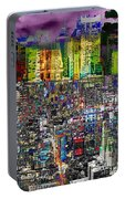 City Dawn Art Cityscape  Portable Battery Charger