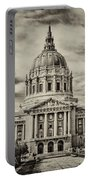 City Hall Antiqued Print Portable Battery Charger