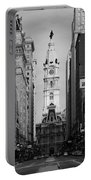 City Hall B/w Portable Battery Charger