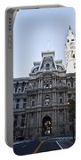 City Hall From Market Street Portable Battery Charger