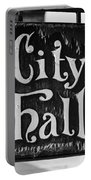 City Hall Sign Portable Battery Charger