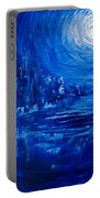 City In Blue Portable Battery Charger