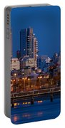 city lights and blue hour at Tel Aviv Portable Battery Charger