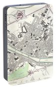 City Map Or Plan Of Florence Or Firenze Portable Battery Charger