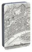 City Map Or Plan Of Frankfort Germany Portable Battery Charger