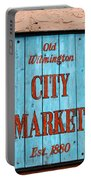 City Market Sign Portable Battery Charger