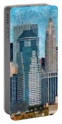 City - Ny - A Touch Of The City Portable Battery Charger