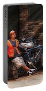 City - Ny - Waiting For The Next Delivery Portable Battery Charger