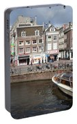 City Of Amsterdam Urban Scenery Portable Battery Charger