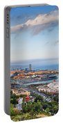 City Of Barcelona From Above At Sunset Portable Battery Charger