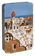 City Of Barcelona From Park Guell Portable Battery Charger