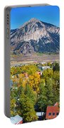 City Of Crested Butte Colorado Panorama   Portable Battery Charger