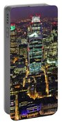 City Of London Skyline At Night Portable Battery Charger