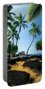 City Of Refuge - A View Of A Hawaiian Traditional House  Portable Battery Charger
