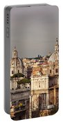 City Of Rome At Dusk Portable Battery Charger