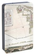 City Plan Or Map Of Pompeii Portable Battery Charger