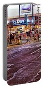 City Scene - Crossing The Street - The Lights Of New York Portable Battery Charger