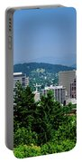City With Mt. Hood In The Background Portable Battery Charger