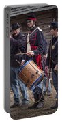 Civil War Reenactors With Drum And Fife Portable Battery Charger