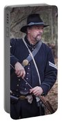 Civil War Union Soldier Reenactor Loading Musket Portable Battery Charger