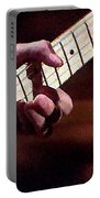Clapton Playing Guitar - Watercolor Painting Portable Battery Charger