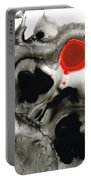 Clarity - Black And White Art Red Painting Portable Battery Charger