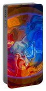 Clarity In The Midst Of Confusion Abstract Healing Art Portable Battery Charger