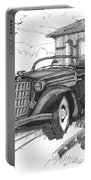 Classic Auto With Formal Gardens Portable Battery Charger