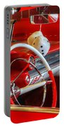 Classic Cadillac Beauty In Red Portable Battery Charger