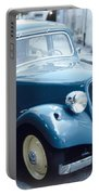 Classic Citroen In Blue Portable Battery Charger