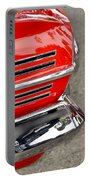 Classic Impala In Red Portable Battery Charger