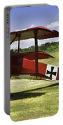 Classic Red Barron Fokker Dr.1 Triplane Photo Portable Battery Charger