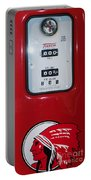 Classic Vintage Tokheim Red Indian Gas Pump Dsc02739 Portable Battery Charger