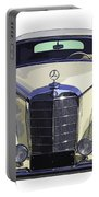 Classic White Mercedes Benz 300  Portable Battery Charger