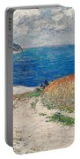 Claude Monet's Path In The Wheat Fields At Pourville-1882 Portable Battery Charger