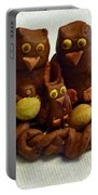 Clay Owl Family Portable Battery Charger