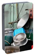 Clean Pots And Pans On Outdoor Sink Portable Battery Charger
