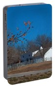 Clear Blue Sky - Oil On Canvas Portable Battery Charger
