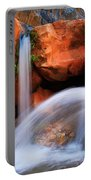 Clear Creek Falls Portable Battery Charger by Inge Johnsson