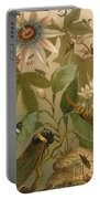 Clematis Cicada And Beetles 1894 Portable Battery Charger