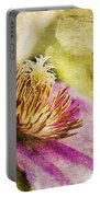 Clematis Closeup Portable Battery Charger