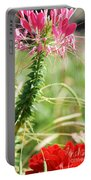 Cleome Hassleriana Portable Battery Charger