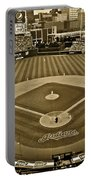 Cleveland Baseball In Sepia Portable Battery Charger