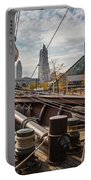Cleveland From The Deck Of The Peacemaker Portable Battery Charger by Dale Kincaid