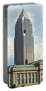 Cleveland Key Bank Building Portable Battery Charger by Frozen in Time Fine Art Photography