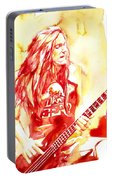 Cliff Burton Playing Bass Guitar Portrait.1 Portable Battery Charger