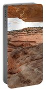Cliff Overhang In Southwest Sandstone Canyon - Utah Portable Battery Charger by Gary Whitton