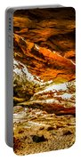 Cliff Rocks And Waterfall Portable Battery Charger