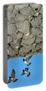 Cliff Swallows Returning To Nests Portable Battery Charger