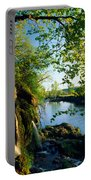 Cliffs And Trees Along Malanaphy Portable Battery Charger